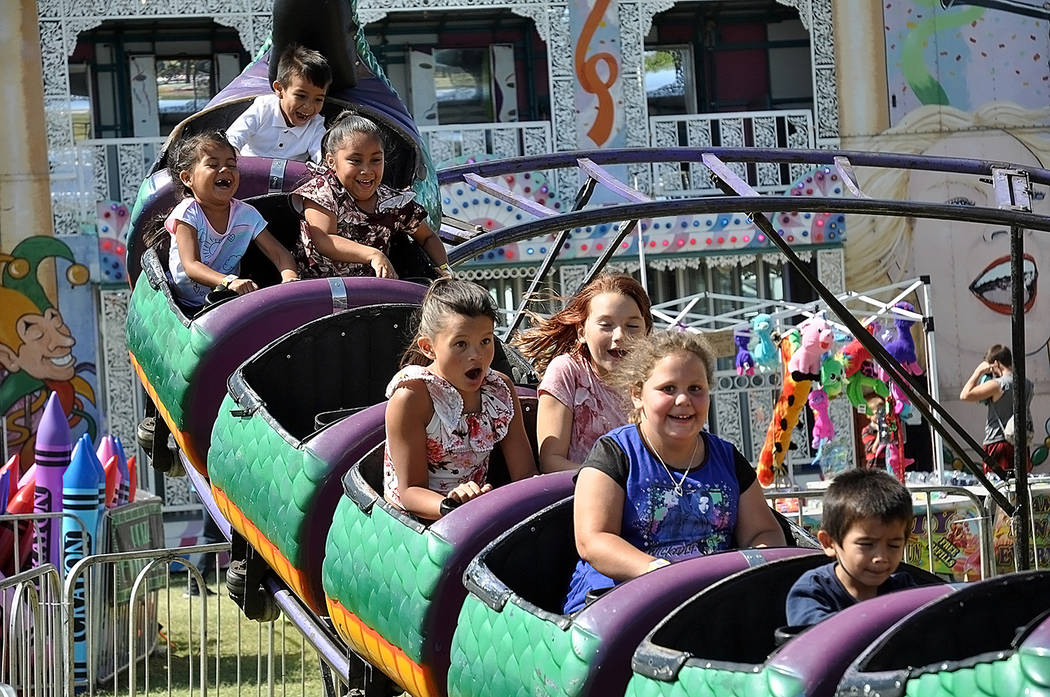 Horace Langford Jr./Pahrump Valley Times Several fast-paced carnival rides were available at t ...