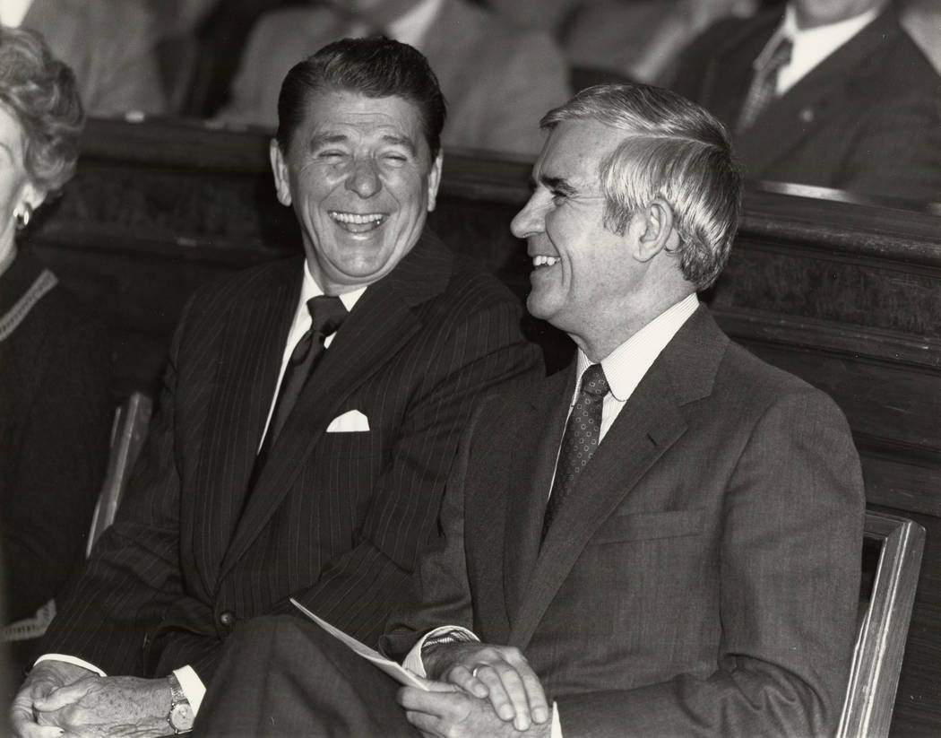 Special to the Pahrump Valley Times Ronald Reagan materials found in the Paul Laxalt U.S. Senat ...