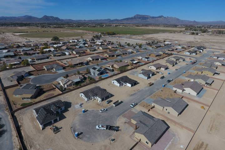 Michael Quine/Las Vegas Review-Journal Aerial view of Cottage Grove Estates on Thursday, Nov. 1 ...