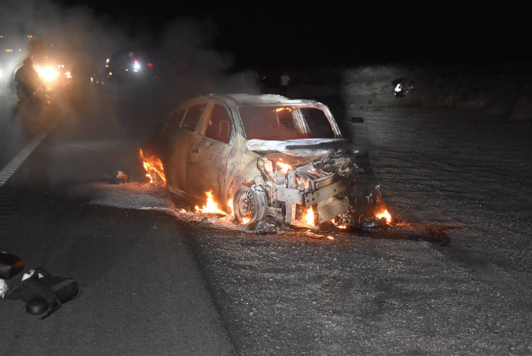 Special to the Pahrump Valley Times Pahrump Valley Fire and Rescue Services crews responded to ...