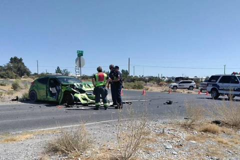 Selwyn Harris/Pahrump Valley Times Two people were transported to Desert View Hospital followin ...