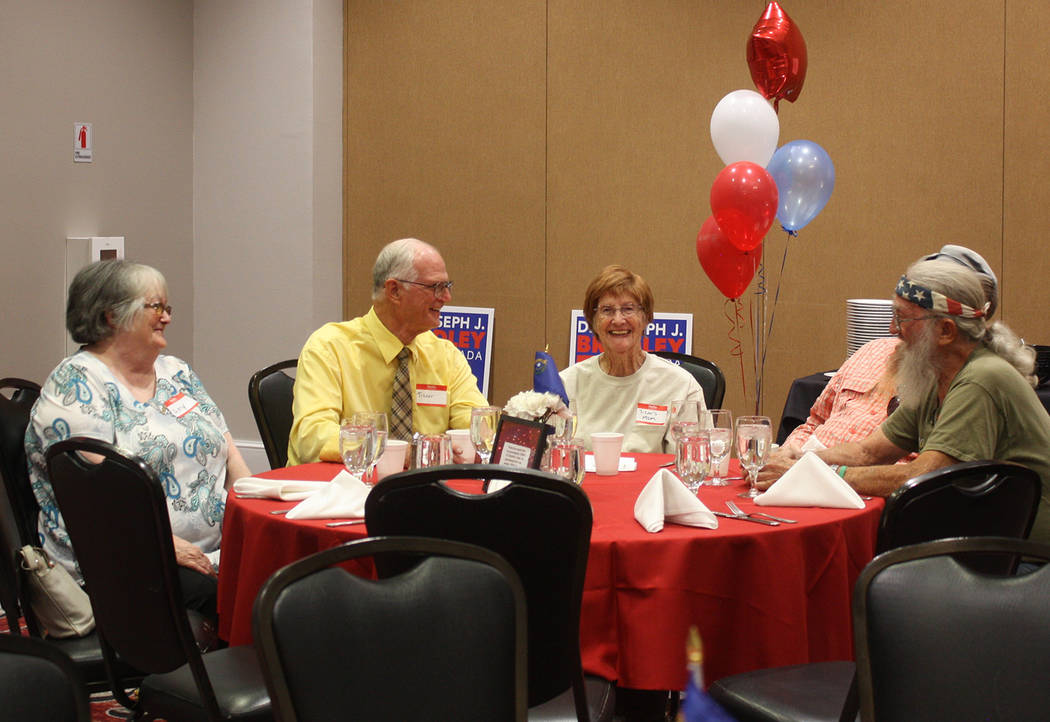 Robin Hebrock/Pahrump Valley Times Nye County residents are pictured enjoying each other's comp ...