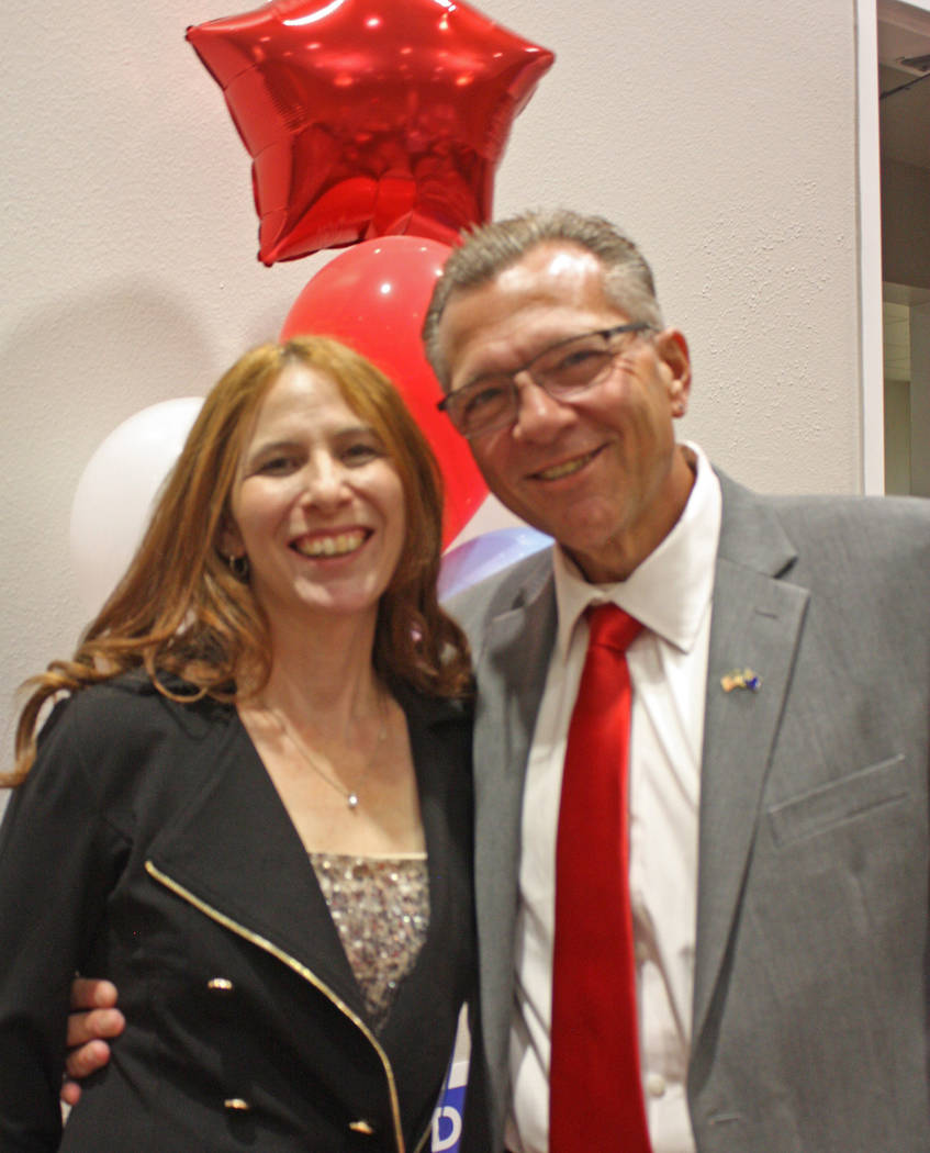 Robin Hebrock/Pahrump Valley Times Dr. Joseph Bradley poses with his wife, Hannah.