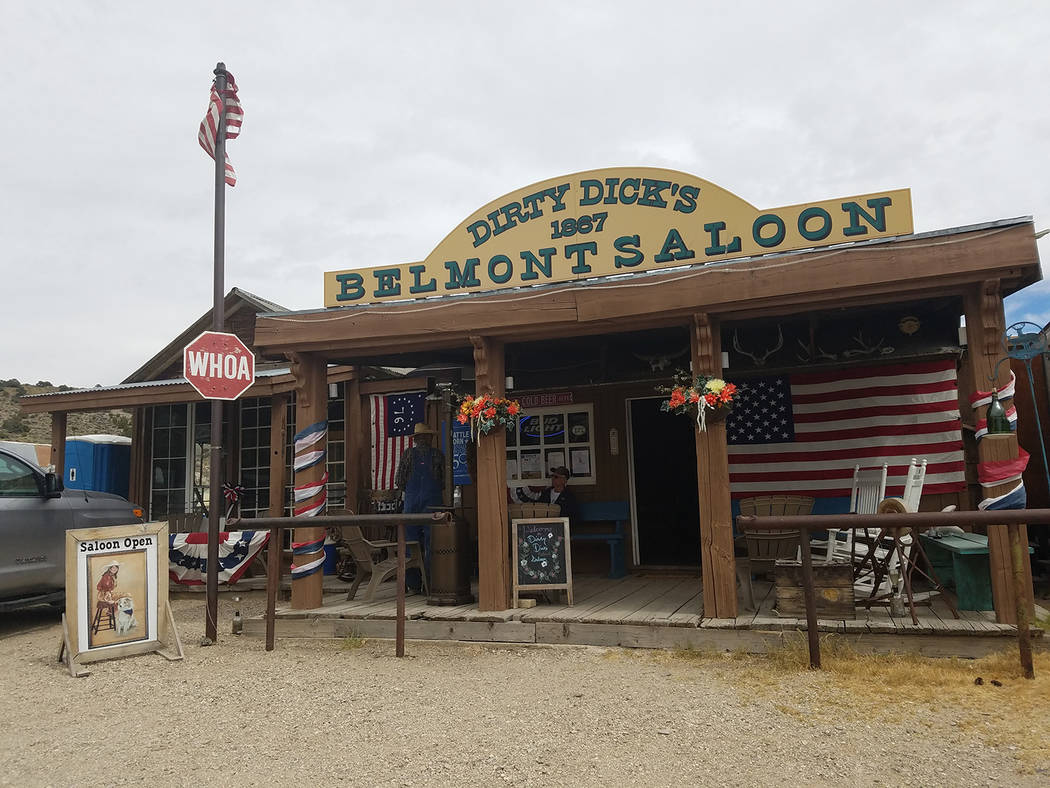 David Jacobs/Pahrump Valley Times The Belmont Saloon as pictured in a 2016 photo. The saloon is ...