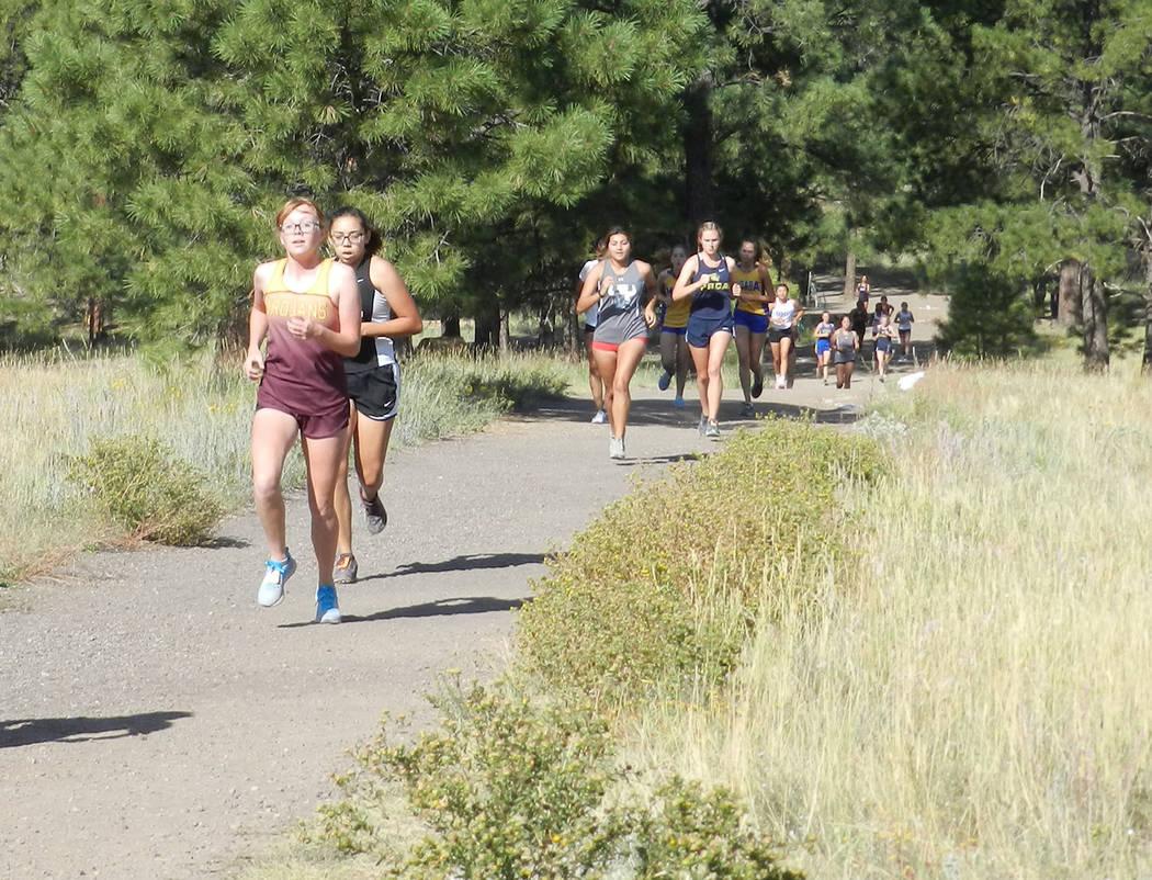 Tammi Odegard/Pahrump Valley Times Sophomore Arianna Hamilton, left, was Pahrump Valley's top r ...