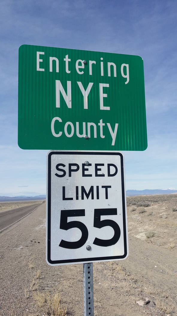 David Jacobs/Pahrump Valley Times The Troy Canyon project is located approximately 43 miles eas ...