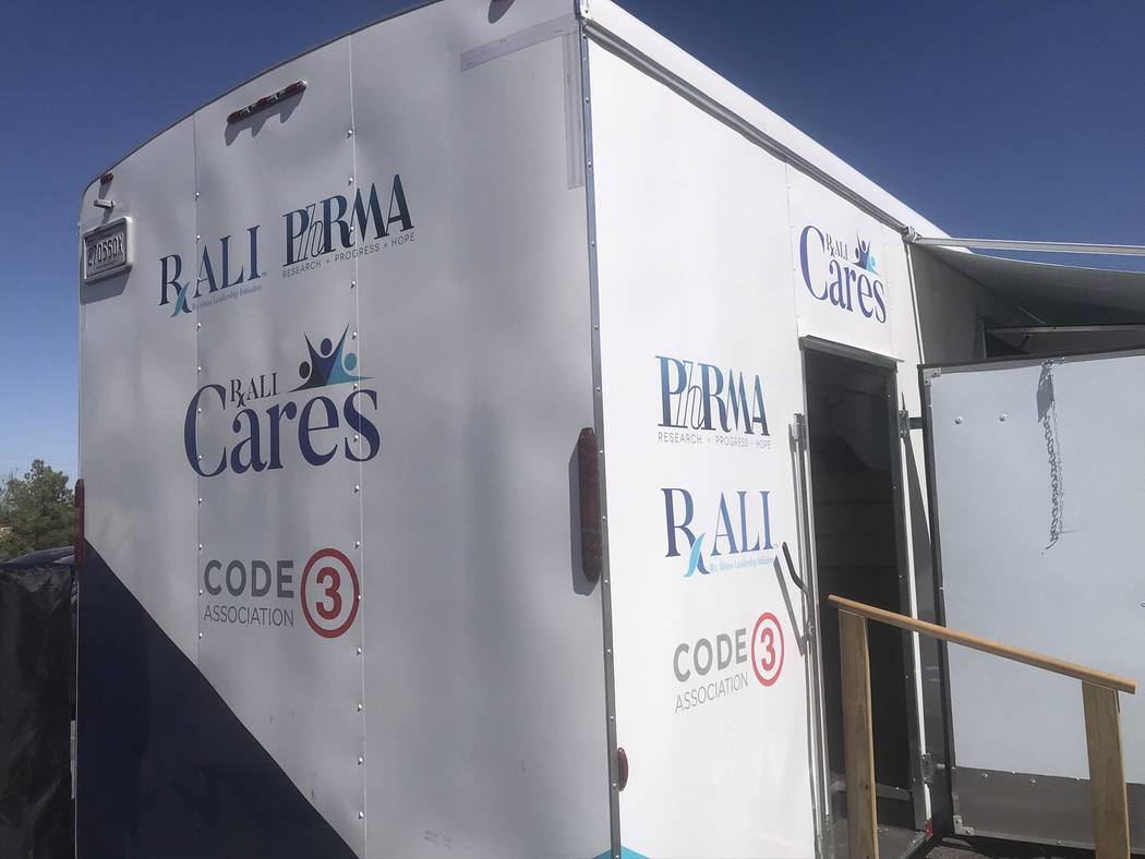 Rx Abuse Leadership Initiative of Nevada (RALI) debuted its RALI Cares vehicle at the Nevada Re ...
