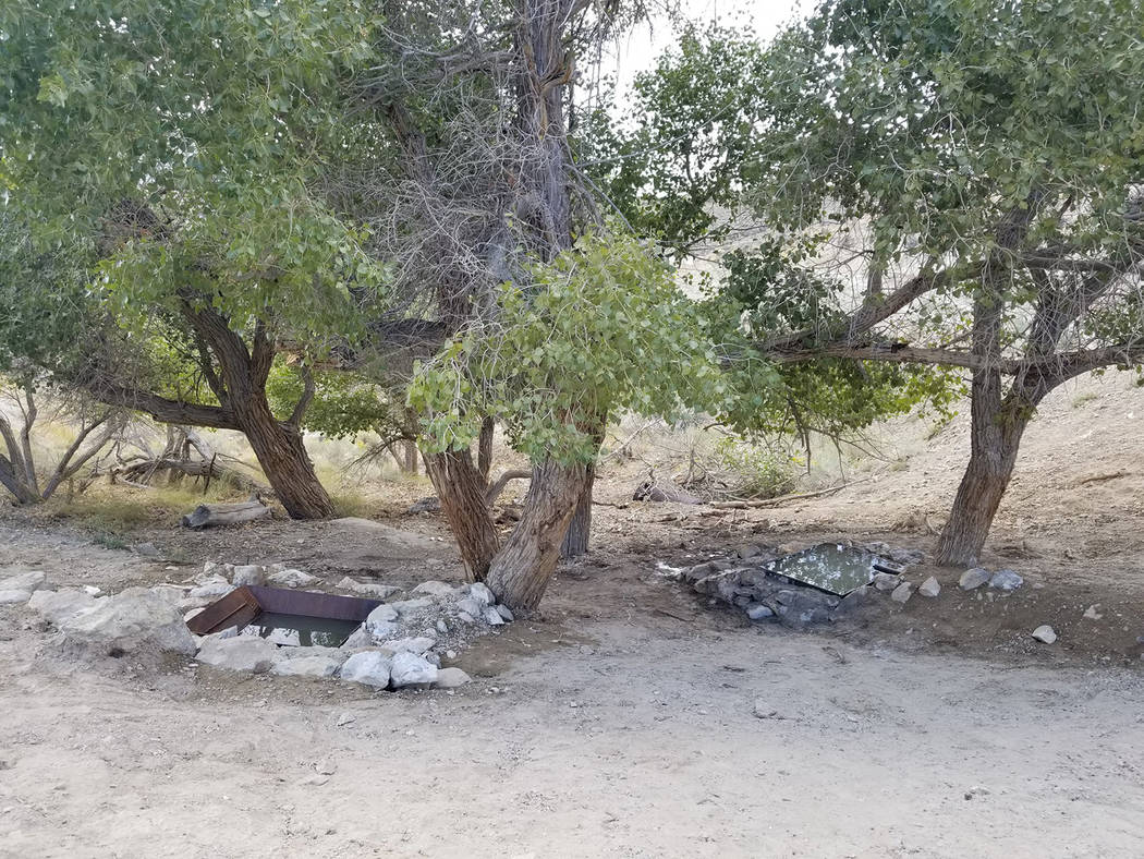 Nevada Department of Wildlife The project area after the two wildlife drinkers were installed. ...