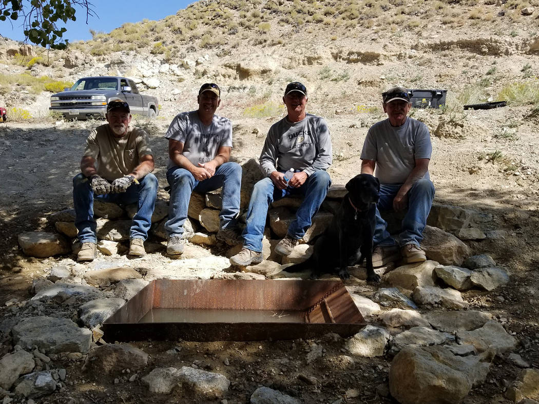 Nevada Department of Wildlife Volunteers shown from left to right: Dave Noles, Grant Wallace, E ...