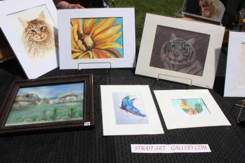 Robin Hebrock/Pahrump Valley Times Judy Strait of Strait Art Gallery had a large number of artw ...