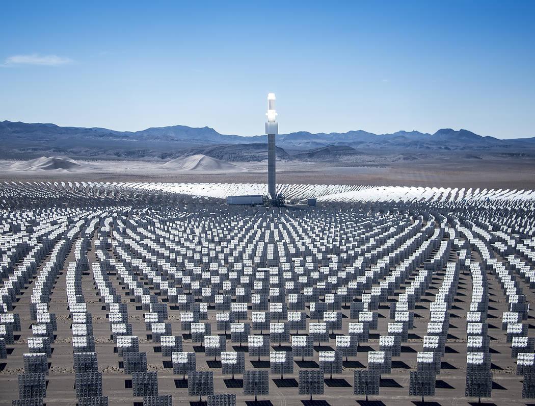 Las Vegas Review-Journal file SolarReserve, original developer for the Crescent Dunes solar pla ...