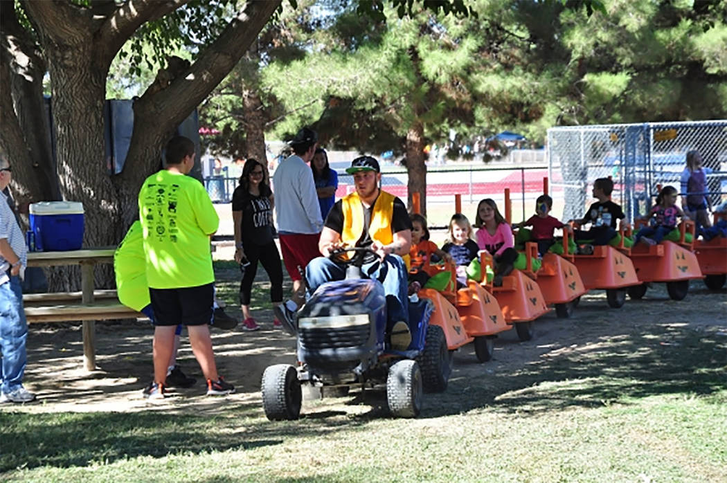 Selwyn Harris/Pahrump Valley Times The kiddie train, shown in a file photo, is definitely a fa ...