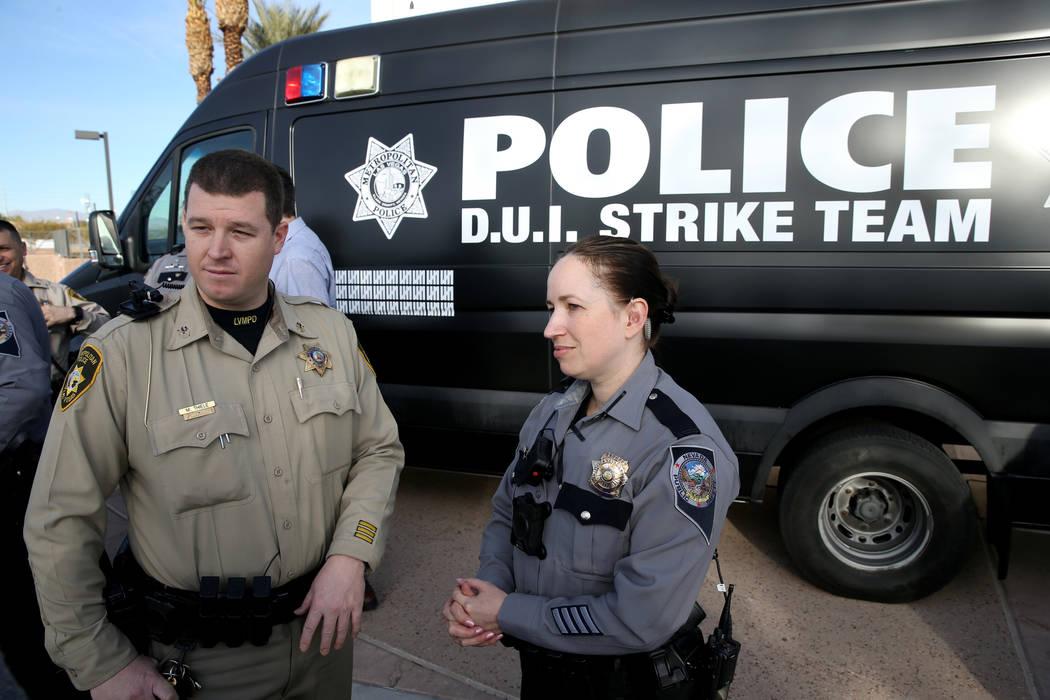 K.M. Cannon/Las Vegas Review-Journal Nevada Highway Patrol Trooper Deborah Huff and Metropolit ...