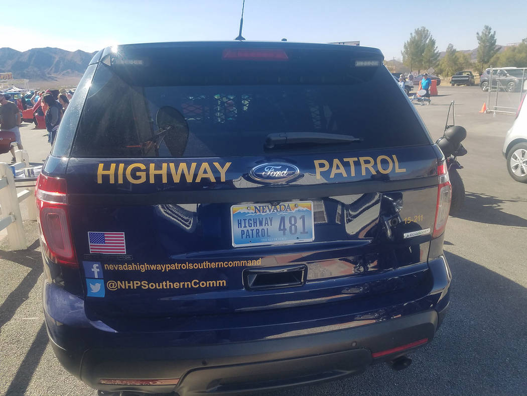 David Jacobs/Pahrump Valley Times An official with the Nevada Department of Public Safety encou ...