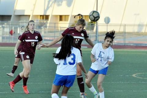 Horace Langford Jr./Pahrump Valley Times Pahrump Valley junior Maddy Souza recorded a hat trick ...