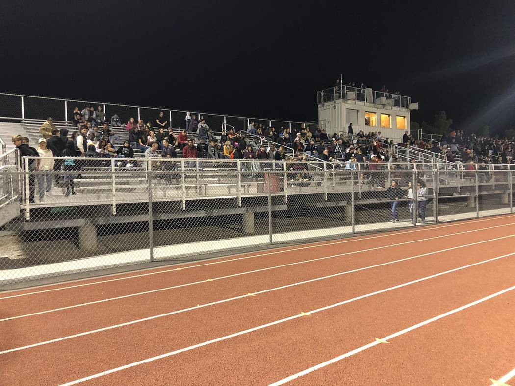 Tom Rysinski/Pahrump Valley Times Chilly temperatures might have kept the crowd down Friday nig ...