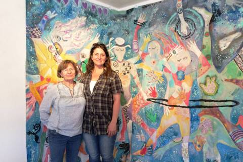 Amy Noel/Special to the Pahrump Valley Times Mary Burke King and Lara Murray in front of Cosmi ...