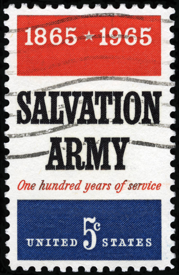 Getty Images A historic look at a canceled stamp from Salvation Army, an organization that dat ...