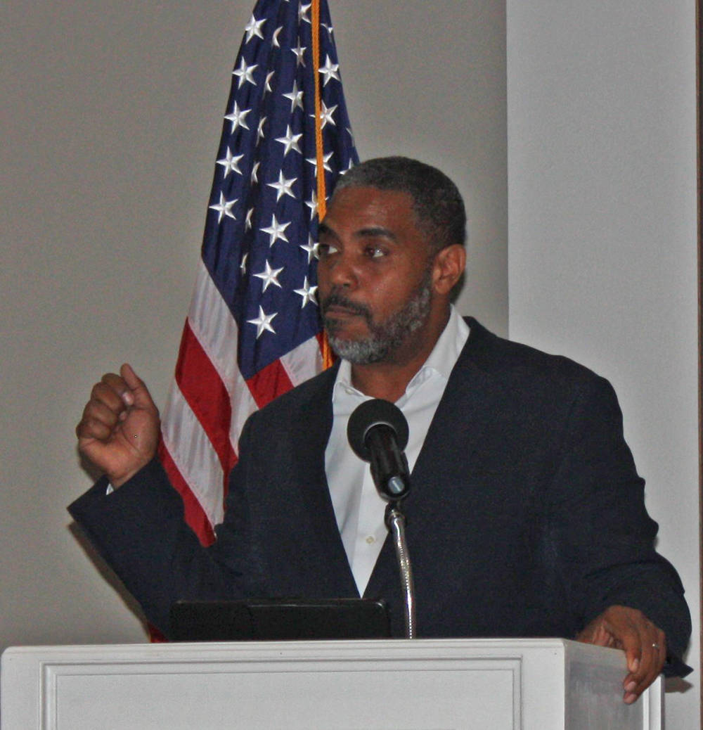 Robin Hebrock/Pahrump Valley Times U.S. Rep. Steven Horsford, D-Nevada, is shown during his vi ...