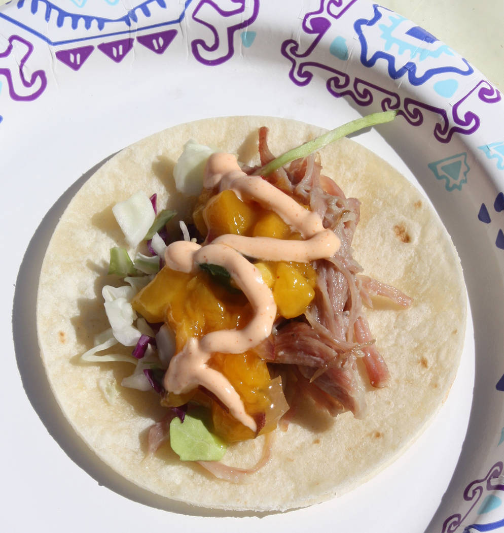 Robin Hebrock/Pahrump Valley Times First place for People's Choice at the 2nd Annual Taco Fest ...