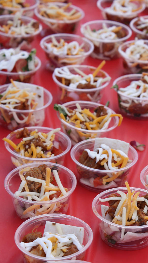 Robin Hebrock/Pahrump Valley Times Taco tastings were quickly devoured by the thousands of atte ...