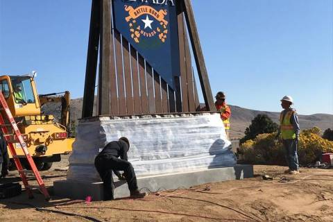 Nevada Department of Transportation Preliminary construction of two separate welcome monuments ...