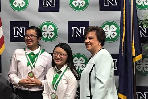 Pahrump Southern Nye County 4-H Mikayla Delarosa (left) took multiple awards back to Pahrump f ...
