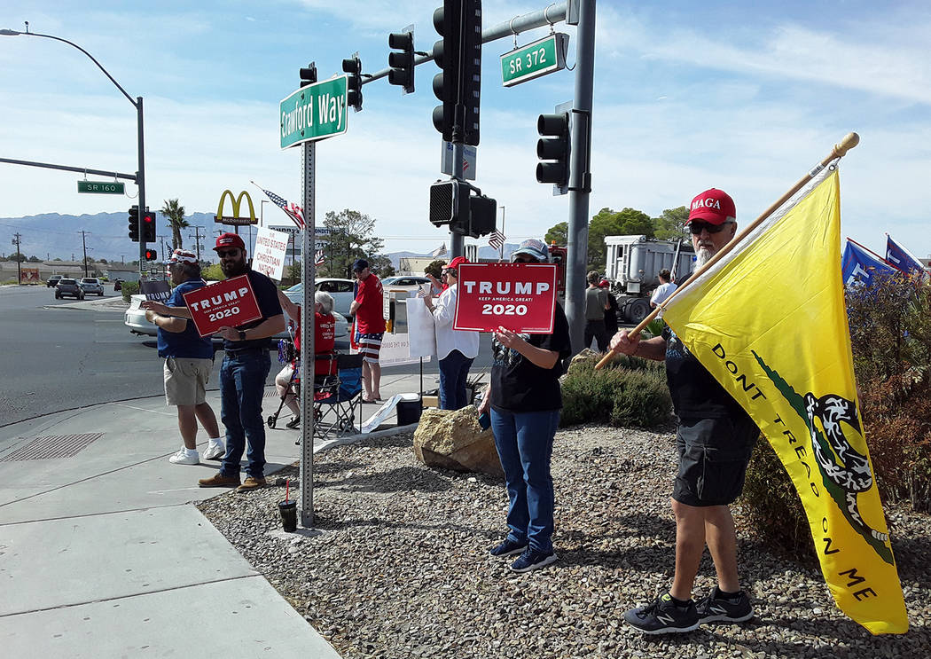 Selwyn Harris/Pahrump Valley Times Nevada District 36 Assemblyman Greg Hafen II, second from le ...