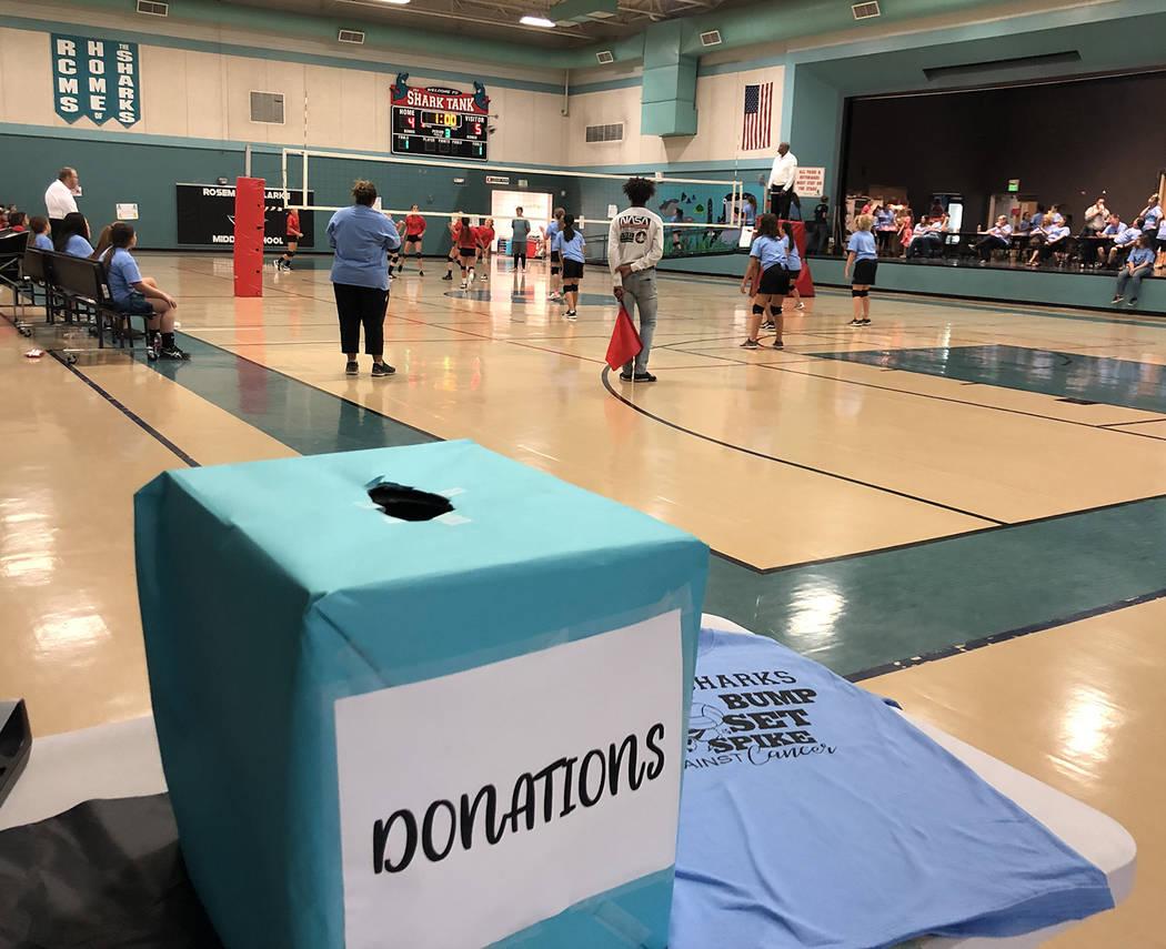 Tom Rysinski/Pahrump Valley Times Rosemary Clarke Middle School turned Thursday's volleyball ma ...