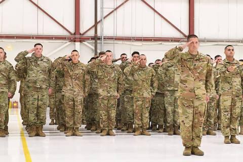 Sgt. Zandra Duran/Nevada Army Guard Soldiers in the Nevada Army Guard's Bravo Company, 1/189th ...