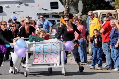 Richard Stephens/Special to the Pahrump Valley Times The bed races are just one of the hilariou ...
