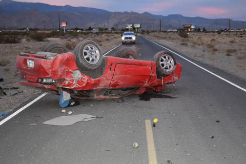 Special to the Pahrump Valley Times One person was transported to Desert View Hospital followin ...