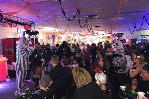 Jeffrey Meehan/Pahrump Valley Times Kids and adults packed the Game Corner and Family Fun Cente ...