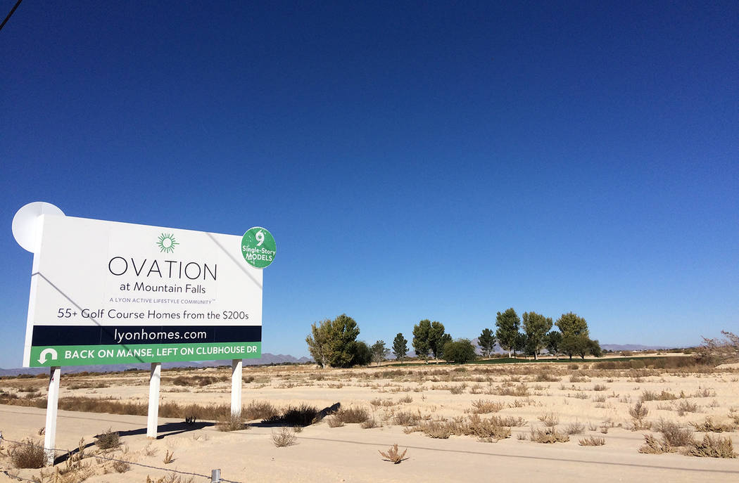 Robin Hebrock/Pahrump Valley Times Mountain Falls includes plans for age-qualified homes on the ...