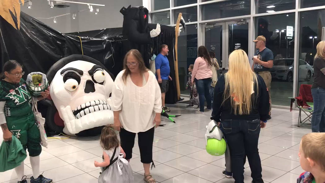 Jeffrey Meehan/Pahrump Valley Times Area children enjoyed the Haunted Mansion and other games a ...