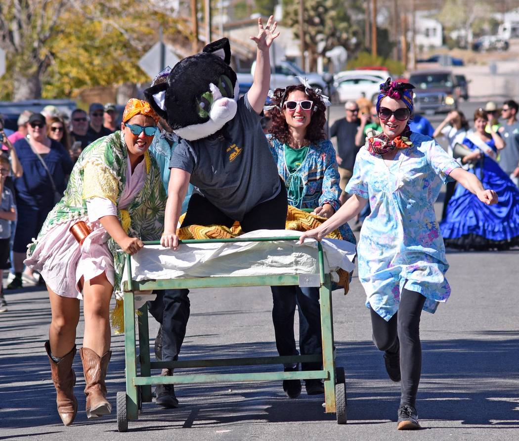 Richard Stephens/Special to the Pahrump Valley Times The Bed Races, always a tradition, is alwa ...