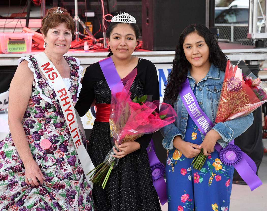 Richard Stephens/Special to the Pahrump Valley Times Miss Beatty, Aniram Rodriguez,center, pose ...