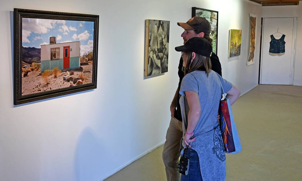 Richard Stephens/Special to the Pahrump Valley Times Attendees of the Bullfrog Biennial Art Exh ...