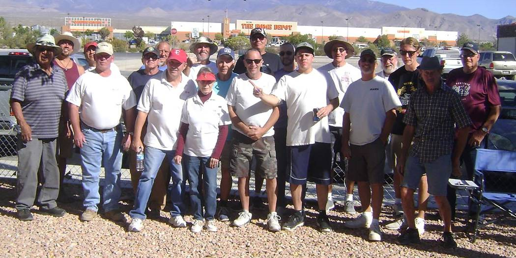 Mike Norton/Special to the Pahrump Valley Times Participants in the Pahrump Boo horseshoes tour ...