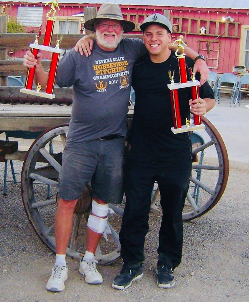 Mike Norton/Special to the Pahrump Valley Times Don Brown, left, and Willy Zuloaga show off the ...