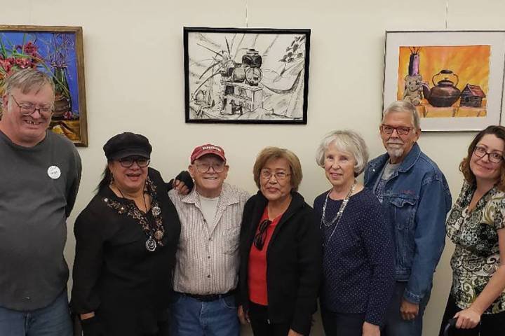 Special to the Pahrump Valley Times Participating Pahrump Arts Council Artists: from left to ri ...