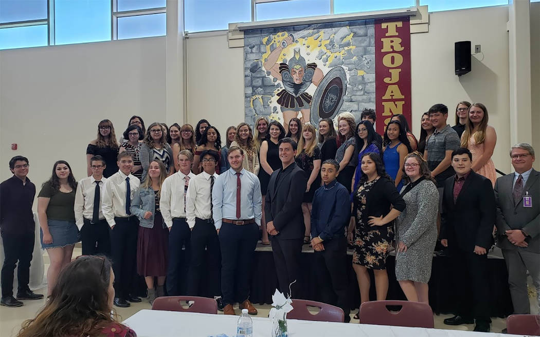 Special to the Pahrump Valley Times Pahrump Valley High School Principal George Campnell, at ri ...