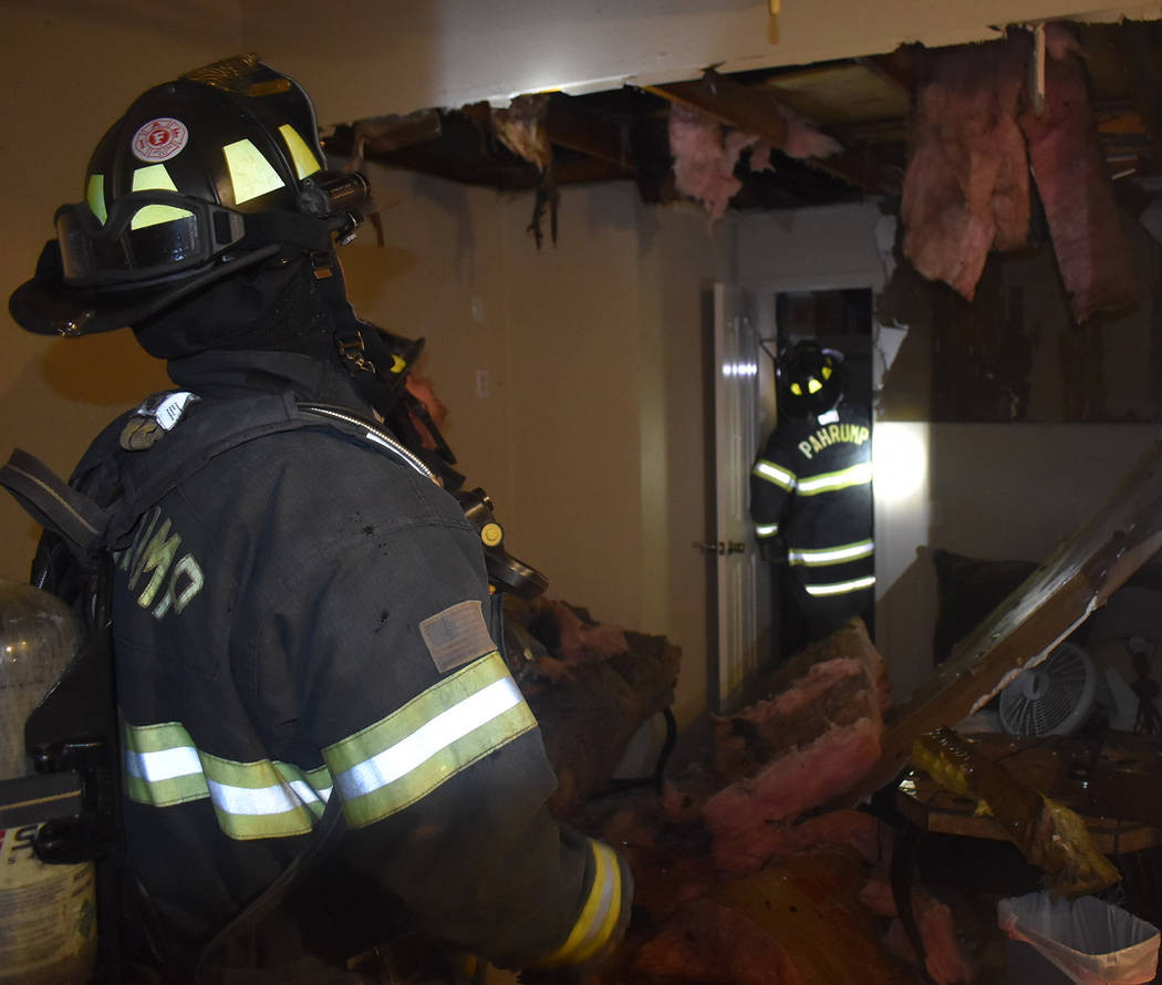 Special to the Pahrump Valley Times A total of three individuals were displaced following an ap ...