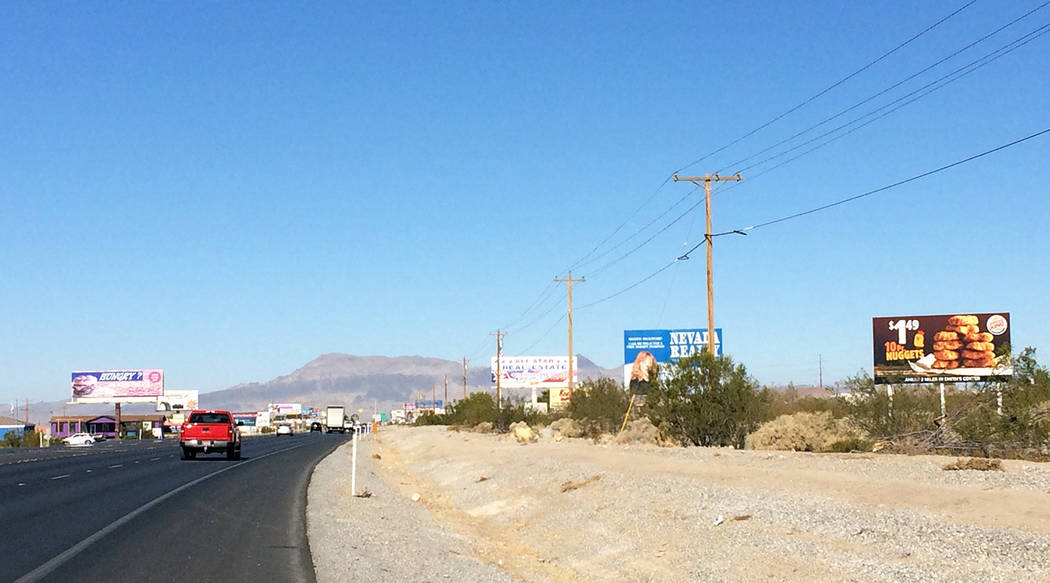 Robin Hebrock/Pahrump Valley Times Highway 160 in Pahrump is one of the highways that is now su ...