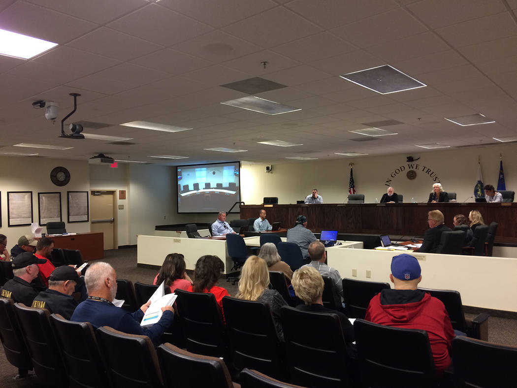 Robin Hebrock/Pahrump Valley Times No less than 20 people attended the sign code workshop on Oc ...