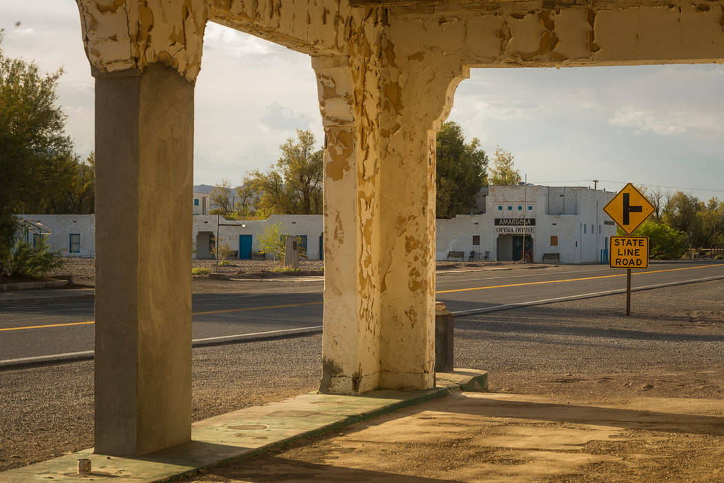 Courtesy of the Amargosa Opera House The Amargosa Opera House as seen from the old service stat ...