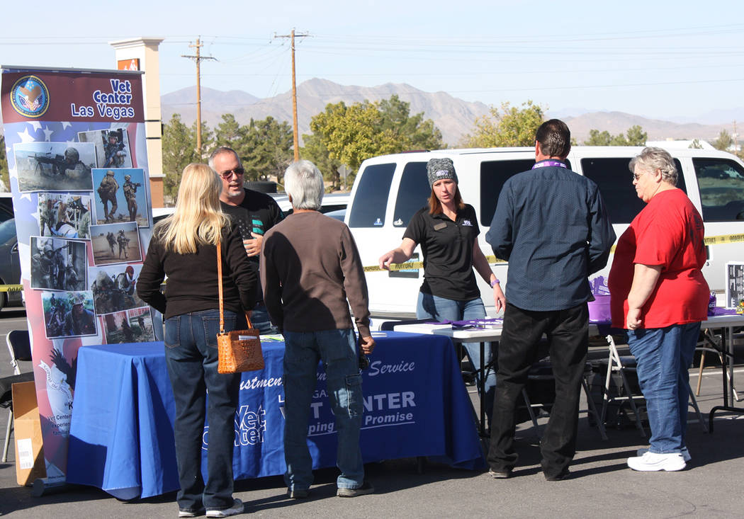 Robin Hebrock/Pahrump Valley Times Former military members were invited to the Veterans Stand D ...