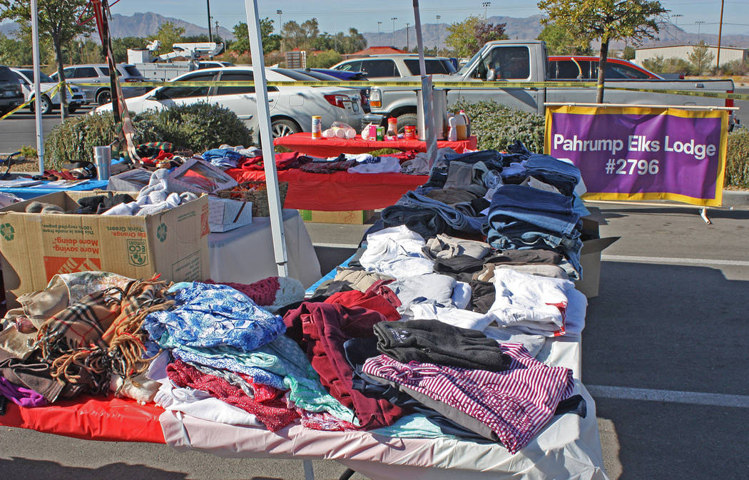 Robin Hebrock/Pahrump Valley Times Valley veterans were able to pick up all kinds of free items ...