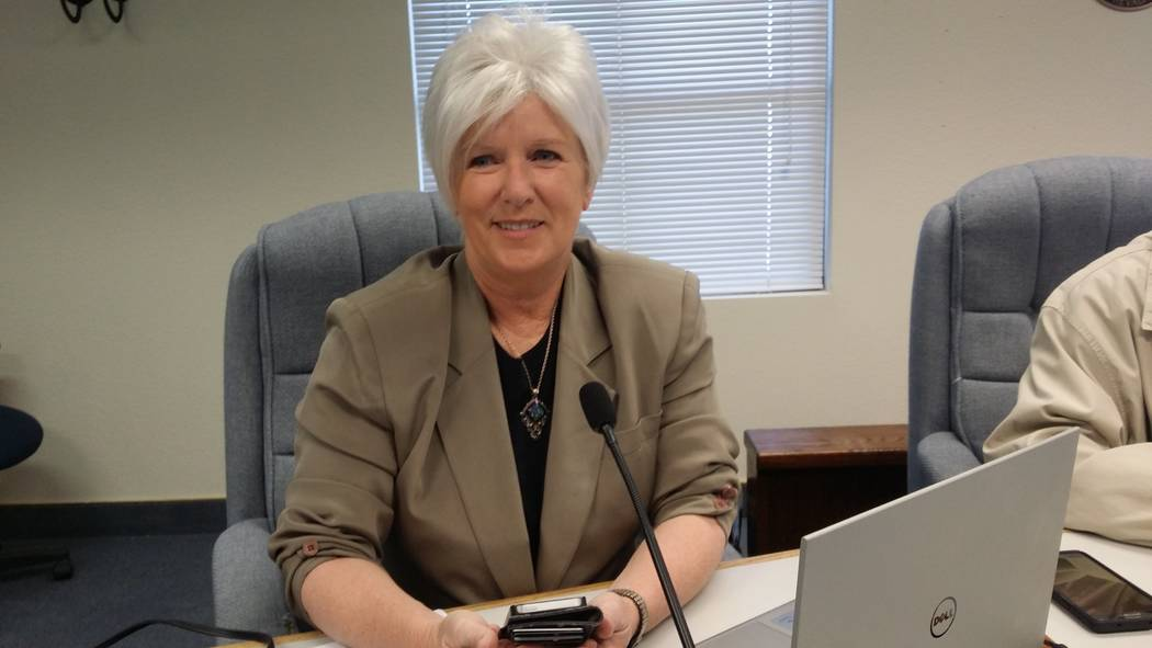 David Jacobs/Pahrump Valley Times Nye County Commissioner Lorinda Wichman serves District I, wh ...