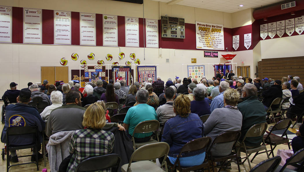 Robin Hebrock/Pahrump Valley Times As always, the Nye County Valor Quilter's latest ceremony at ...